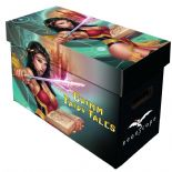 Comic Book Cardboard Storage Box with Grimm Fairy Tales Artwork, holds 150-175 Comics